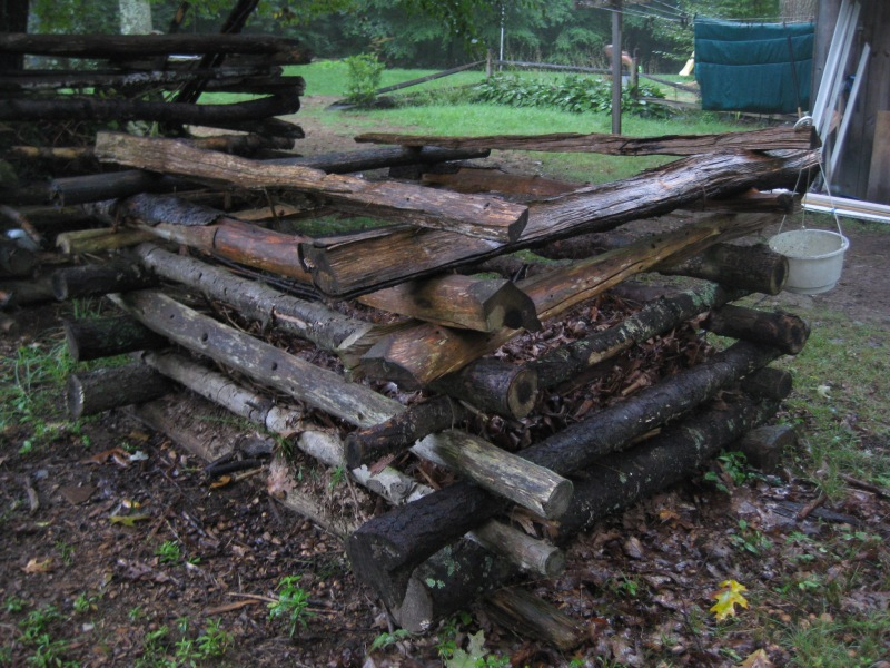 Log Compost Bin | 45 DIY Compost Bins To Make For Your Homestead
