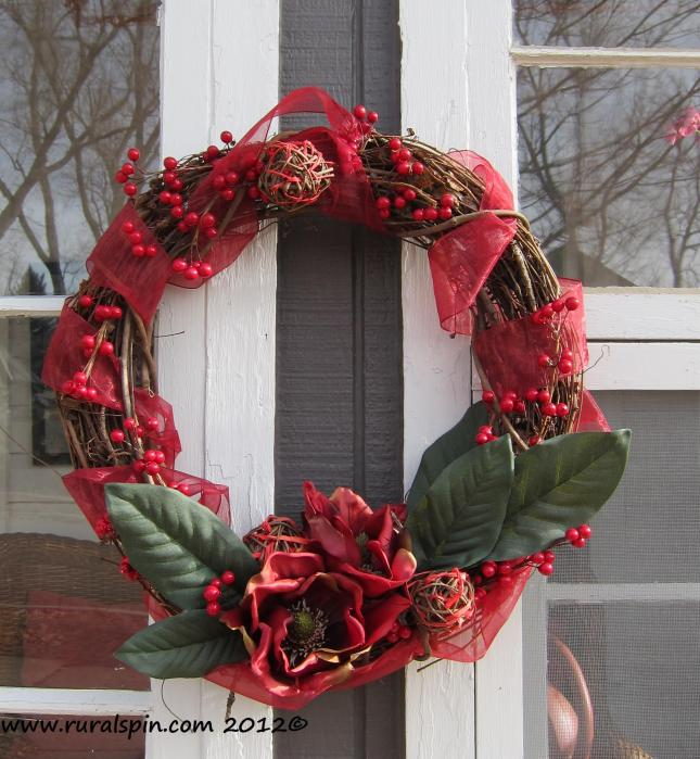 This wreath was not expensive to make, and will last for years to come.