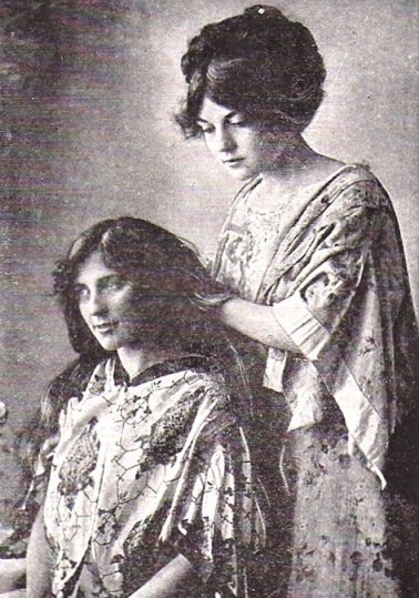 Women used to have long, luxurious hair using only natural methods and ingredients.