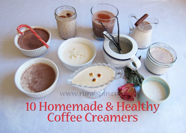 10 Homemade & Healthy Coffee Creamers  - www.ruralspin.com